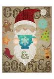 Santas Kitchen 2 Prints by Melody Hogan
