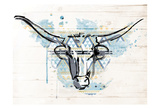 Bull Patterned Blues Posters by Jace Grey