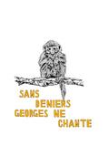 Sans Deniers, George ne Chante Premium Giclee Print by Natasha Marie