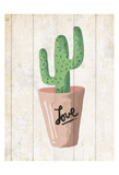 Love Cactus 1 Print by Kimberly Allen
