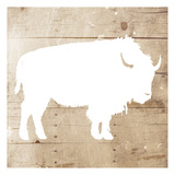 White On Wood Buffalo Mate Posters by Jace Grey