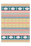 Cotton Candy Aztec Mate Print by Jace Grey