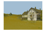 Barn With Blue Sky Poster by Sarah Butcher