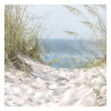 Over The Coastal Dune Print by Melody Hogan