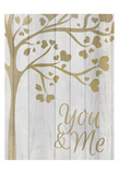You and Me Hearts Poster by Kimberly Allen