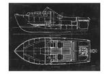 Boat Blueprint 2 Prints by Carole Stevens