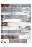 Pastel Wood Three Posters by Jace Grey