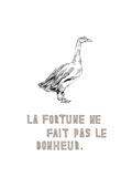 La Fortune ne fait pas le Bonheur Premium Giclee Print by Natasha Marie
