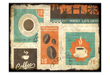 Coffee Stamps 2 Poster by Kimberly Allen