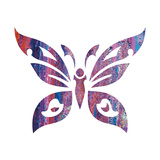 Tribal Butterfly 2 Print by Melody Hogan