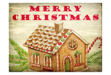 Gingerbread House Christmas Posters by Kimberly Allen