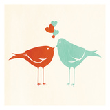 Birds In Love Prints by Jace Grey
