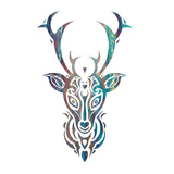 Tribal Buck 3 Poster by Melody Hogan
