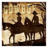 Ridem Cowboy Posters by Jace Grey