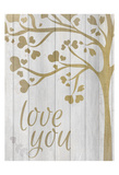 Love You Hearts Prints by Kimberly Allen