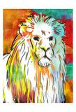 Vibrant Lion Prints by OnRei OnRei