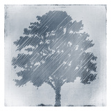 Frosted Tree Silhouette 2 Prints by Kimberly Allen