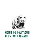 Moins de Politique, Plus de Fromage Premium Giclee Print by Natasha Marie