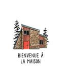 Bienvenue a la Maison Premium Giclee Print by Natasha Marie