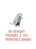 On Revient Toujours a ses Premieres Amours Premium Giclee Print by Natasha Marie