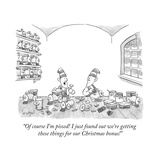 """""""Of course I'm pissed! I just found out we're getting these things for our... - New Yorker Cartoon Giclee Print by Robert Leighton"""