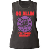 Juniors Tank Top: GG Allin- I'm Your Enemy T-Shirt