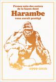 Harambe, Le Gorille Héroïque (Blanc) Plakater