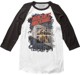 Marvel: Long Sleeve: Guardians of the Galaxy- Rocket Raccoon Raglan Camiseta
