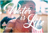 Water Is Life As American Pie Plakater