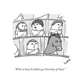 """""""Well, at least he didn't get Secretary of State."""" - New Yorker Cartoon Premium Giclee Print by Lars Kenseth"""