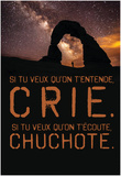 Si tu veux qu'on t'entende Crie. Posters