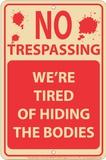 Hiding Bodies Blikskilt