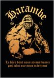 Harambe, Le Gorille Héroïque (Noir) Posters