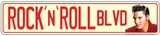 Rock N Roll Blvd Tin Sign