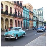Havana Rainbow Houses Print by K. Lowenkron