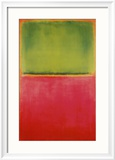 Green, Red, on Orange Poster by Mark Rothko
