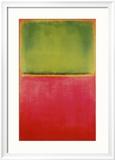 Verde e rosso su arancione Poster di Mark Rothko