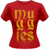 Juniors: Harry Potter- Muggles Gothic Gold - T shirt