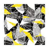 Geometric Seamless Pattern in Retro Style. Vintage Background.Triangles and Hand Drawn Patterns. Lo Premium Giclee Print by  pashabo
