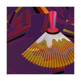 Nature Fan, Volcano Color Giclee Print by Belén Mena