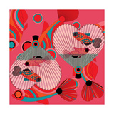 Nature Fan, Fish Color Giclee Print by Belén Mena