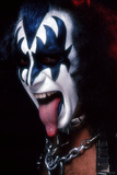 KISS - Gene Simmons Demon Tongue 1977 キャンバスプリント :  Epic Rights