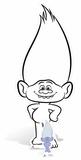 Trolls - Guy Diamond Colour-In Cardboard Cutout  - Mini Cutout Included Papfigurer