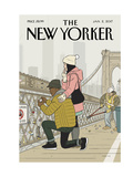 The New Yorker Cover - January 2, 2017 Regular Giclee Print by Adrian Tomine