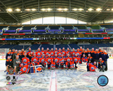 NHL: The Edmonton Oilers Team Photo 2016 NHL Heritage Classic Photo