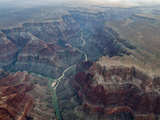 Aerial View of the Colorado River Flowing Through the Grand Canyon Photographic Print by Peter Mcbride