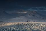 Skaftafellsjokull Glacier with a Mountain During a Dramatic Sunrise Photographic Print by Alex Saberi