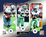 NFL: Tony Dorsett, Emmitt Smith, Ezekiel Elliott Legacy Collection Photo