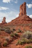 Sandstone Towers Shaped by Erosion Stand in Valley of Gods Fotografisk tryk af Greg Winston