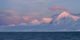Snowcapped Mountain Along the Gerlache Strait, Antarctica Photographic Print by Jeff Mauritzen